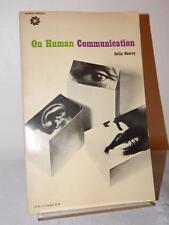 ON HUMAN COMMUNICATION Colin Cherry Vintage Paperback PB 1961 Speech Language