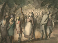 Harold Hope Read (1881-1959) - Watercolour & Ink, Figures in a Park