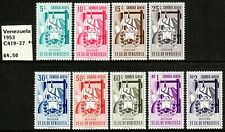 "1951 Venezuela ""Arms of Bolivar & Stylized Design"" A/M set MNH Sc# C419 / C427"