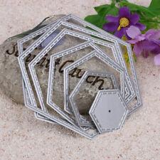Hexagon spiral Die Cuts Metal Cutting Dies In Scrapbooking Embossing C#P5