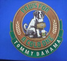 Tommy Bahama Size XXL Blue Paws For a cold one Tshirt New Mens Shirts