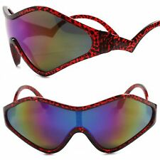 Costume Party Rave Funky Alien Cosplay Retro Futuristic Red & Blue Sun Glasses