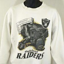 Oakland Raiders Mens Sweatshirt Vintage 80s Super Bowl XV 1981 Made In USA Large