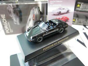 Kyosho - PORSCHE Collection 3 - 911 Speedster Black - 1/64 - Mini Toy Car - A20