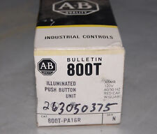 ALLEN BRADLEY 800T-PA16R ILLUMINATED PUSH BUTTON