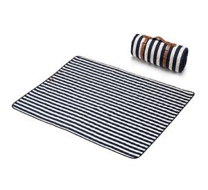 Washable Picnic Mat – Urban Modern (Blue & White Striped)