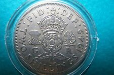GREAT BRITAIN, 1949  TWO SHILLINGS LARGE (Florin) COIN King George V, Very Fine