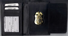 FBI Badge CutOut Money Wallet holds ID's/Driver License/CC's(Badge Not Included)