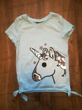 Girls Primark My Other BFF is a UNICORN Emoji Silver Metallic T-Shirt Size 7-15