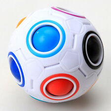 Creative Magic Rainbow and White Spherical Ball Shaped Cube Puzzle Toy Kids Gift