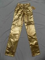 New Lawman GOLD Shiny Western Metallic High Waist Pants Rodeo Tribute Jr 3 24x36