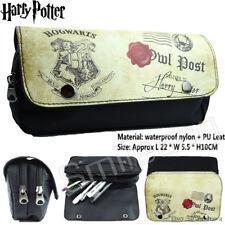 Harry Potter Hogwarts Stamp Letter Zip Pen Pencil Case Zipper Make Up Bag Gift N