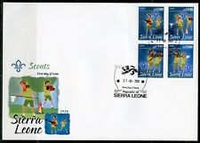 SIERRA LEONE 2020 SCOUTS SET FIRST DAY COVER