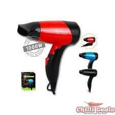 Foldable Compact Travel Styling Hair Dryer 1000w 2 Heat 2 Speed Safety Cut off