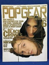 Pop Gear 1992 06 Japan Magazine Black Crowes Cure Kylie Minogue Nirvana U2 Ride