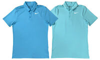 Nike Golf Mens Dri-Fit  Standard Fit Icon Elite Polo Shirt Blue/Teal New