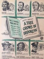 Vintage Print Ad  Photoplay Magazine 1947  A Tree Grows in Brooklyn