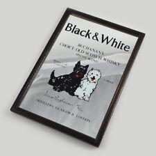 Black & White Scotch Whisky - Barspiegel - Holzrahmen - Spiegel - Vintage Mirror