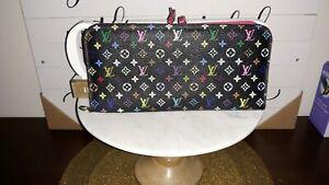 Louis Vuitton Portefeuille Insolite Long Noir Multicolor Pink interior Authentic