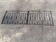 Pair Ornate Driveway Garden Gates 8ft Ish Wrought Iron Gates