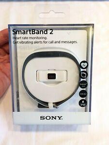 White Sony SWR12 Smartband 2 Fitness Wrist Smart Watch Band