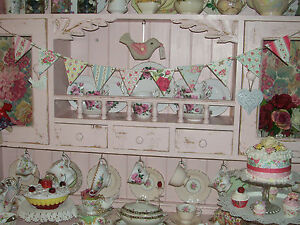 SHABBY CHIC WOODEN BUNTING MADE USING CATH KIDSTON DESIGN GARLAND DISPLAY HOME