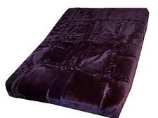 Authentic Solaron Korean Blanket Thick Mink Plush queen size purple Licensed new