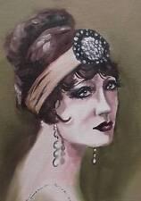 Dipinto originale olio su tela ritratto da Gregory Tillett: Faded ELEGANCE