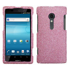 For Sony Xperia Ion Crystal Diamond BLING Hard Protector Case Phone Cover Pink