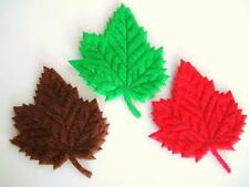 60 Felt Autumn Leaves Applique/Canadian Maple Leaf/Craft/Green/Red/Brown H341