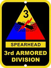 ARMY 3rd Armored Division SPEARHEAD USA Military Metal Tin Sign 9x12