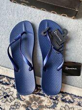 Ipanema Blue flip flops thongs women size 9 UK EUR 43 Navy