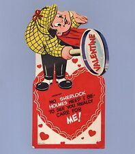 Vintage Valentine Card Valentine'S Day Sherlock Holmes Mechanical Detective