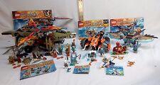 Lego Chima Lot: 70222, 70227, 70231, 70141, 30250, 30256 - Laval Cragger RETIRED
