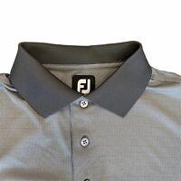 Footjoy Golf Polo Shirt Mens Medium Short Sleeve Gray