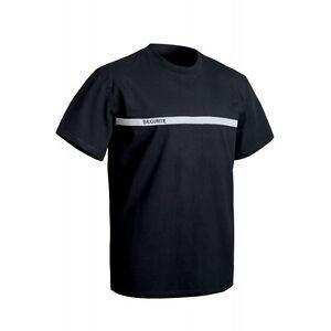 Tee-shirt sécurité bande grise réfléchissante forces de l'ordre sécurité privée