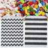 12Pcs Striped Wave Cake Candy Paper Bag Wedding Party Shop Packing DIY Decor