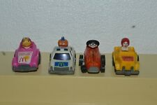 1985 McDonald's Fast Macs 4 Pull Back Mini Cars Happy Meal Toys Very Good Condit