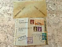 Vintage Postage Envelope 1943 - Istanbul to New York City - Rare Marks/Stamps