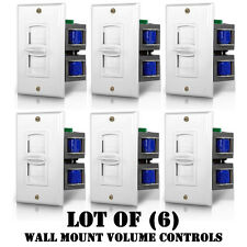 Lot of (6) Pyle PVC2 Wall Mount Impedance Matching Vertical Slide Volume Control