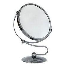 Miroir DOUBLE en Acier chromé salle de bain maquillage beauté décoration