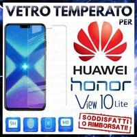 Pellicola in VETRO TEMPERATO per HUAWEI HONOR VIEW 10 LITE Proteggi Schermo LCD