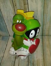 "Marvin The Martian and K-9 Dog Vinyl Bank Warner Bros 1999 8"" Tall VTG"
