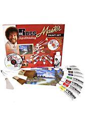 Bob Ross MASTER PAINT SET, OIL COLORS,+1-HR DVD BRUSHES, MEDIUMS, ART KNIFE ,