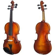 Holiday SALE! New 4/4 Full Size Solid Wood Violin w Rosin, Case, Shoulder Rest