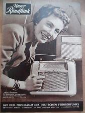 UNSER RUNDFUNK 13 - 1959  Programm 22.- 28.3. Rema-Trabant Radio FF DABEI
