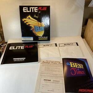 "Elite Plus IBM PC Video Game ~ BIG BOX 1991 Microplay Software 5-1/4"" Disc"