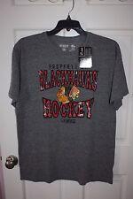 NWT Mens CCM Blackhawks Hockey Gray T-Shirt Size XL