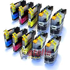KIT 10 CARTUCCE LC-123 PER BROTHER DCP J132W J152W J172W J4110DW J552DW J752DW