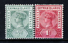 CAYMAN ISLANDS Queen Victoria 1900 Both Key Plate Issues SG 1 & SG 2 MINT
